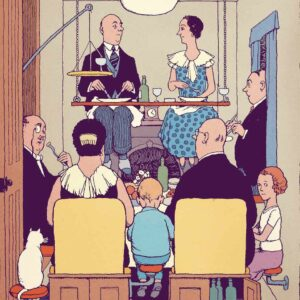 // EN DIRECT // SURVIVRE CHEZ SOI  (L'ART DU CONFINEMENT) d'après « How to live in a flat » de William Heath Robinson